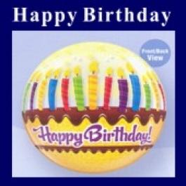 Happy Birthday Bubble Luftballon (ohne Helium)