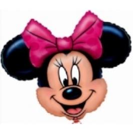 Minnie Mouse Luftballon ohne Helium, Minni Maus Ballon