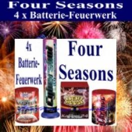 Feuerwerk, Batterie-Feuerwerks-Sortiment Four Seasons, 4 Feuerwerksbatterien