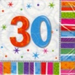 """Geburtstag 30 Deko Servietten """"Radiant Birthday"""""""