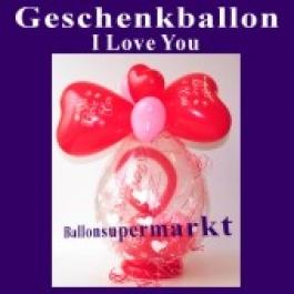 Geschenkballon I Love You