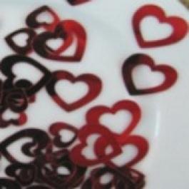 Hearts Konfetti, Streudeko Hochzeit, Herzkonfetti