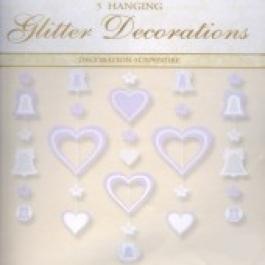Glitter Decoration Hearts and Bells, Hochzeitsdekoration