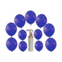 """""""Ich wünsch mir"""" Set 12 Silvesterwünsche mit dem Helium-Einweg-Behälter"""