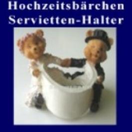 Hochzeitsbärchen, Tischdeko, Serviettenhalter