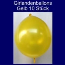 Kettenballons-Girlandenballons-Gelb-Metallic, 10 Stück