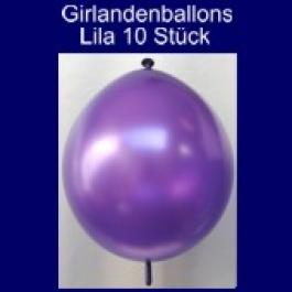 Kettenballons-Girlandenballons-Lila-Metallic, 10 Stück