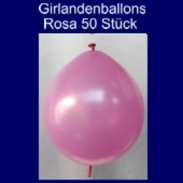 Kettenballons-Girlandenballons-Rosa-Metallic, 50 Stück