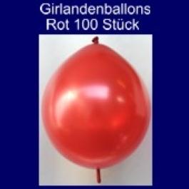 Kettenballons-Girlandenballons-Rot-Metallic, 100 Stück