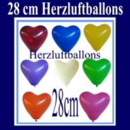 Herzluftballons 50 Stück