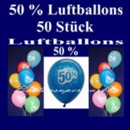 Luftballons 50 Prozent, 50 Stück