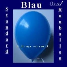 Luftballons Standard R-O 27 cm Blau 100 Stück
