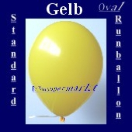 Luftballons Standard R-O 27 cm Gelb 100 Stück