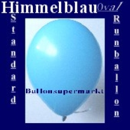 Luftballons Standard R-O 27 cm Himmelblau 100 Stück