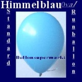 Luftballons Standard R-O 27 cm Himmelblau 10 Stück