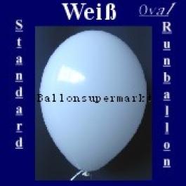 Luftballons Standard R-O 27 cm Weiss 10 Stück