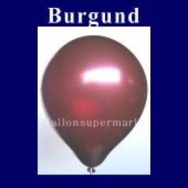 Luftballons Metallic 25 cm Burgund R-O 10 Stück