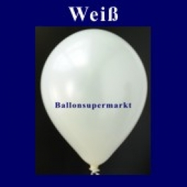 Luftballons Metallic 25 cm Weiß R-O 10 Stück