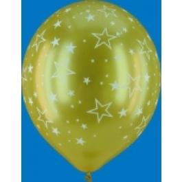 "Luftballons ""Stars All Over"" Gold"