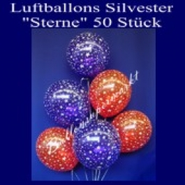 "Luftballons Silvester ""Sterne"" 50 Stück"