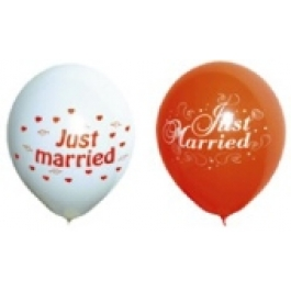 "Luftballons ""Just Married"" 25 Stück"