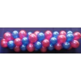 Luftballongirlande Selbstbauset 25 cm Metallicfarben