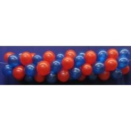 Luftballongirlande Selbstbauset 30 cm Kristallfarben