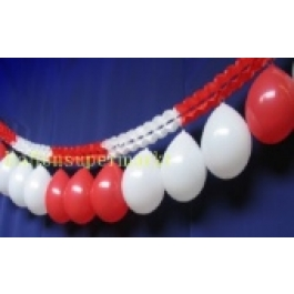 Girlande mit Luftballons Rot-Weiss 03