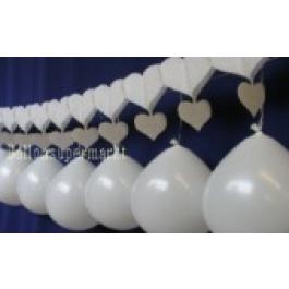 Hochzeitsgirlande Herz Luftballons 06