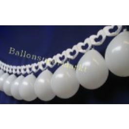Hochzeitsgirlande Herz Luftballons 07
