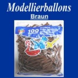 Modellierballons, Braun, 100 Stück