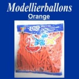 Modellierballons, Orange, 100 Stück