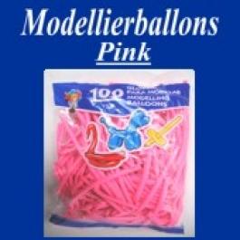 Modellierballons, Pink, 100 Stück