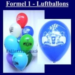Motiv-Luftballons-Rennwagen-Formel-1