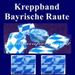 Oktoberfest-Kreppband Bayrische Raute