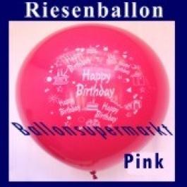 Riesenballon-Geburtstag-Happy-Birthday-Pink-(Helium)