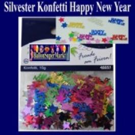Silvester Konfetti Happy New Year, Tischdekoration