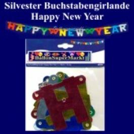 Silvesterdeko Buchstabengirlande Happy New Year