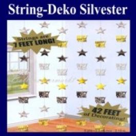 Silvesterdeko Strings, 6 Deko-Ketten, Silvesterparty Dekoration