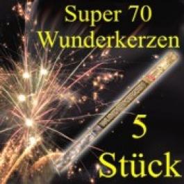 Wunderkerzen, Superlang, 70 cm, 1 Packung, 5 Stück