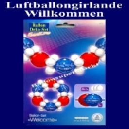 Girlande aus Luftballons, Willkommen, Deko-Set