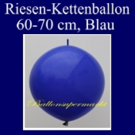 Riesen-Girlanden-Luftballon, 60-70 cm, Blau, 1 Stück