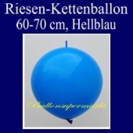 Riesen-Girlanden-Luftballon, 60-70 cm, Hellblau, 1 Stück
