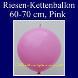 Riesen-Girlanden-Luftballon, 60-70 cm, Pink, 1 Stück
