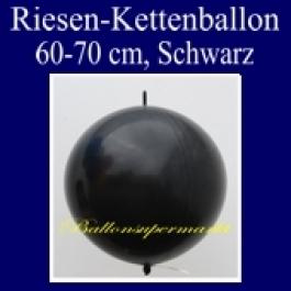 Riesen-Girlanden-Luftballon, 60-70 cm, Schwarz, 1 Stück