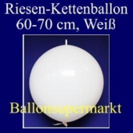 Riesen-Girlanden-Luftballon, 60-70 cm, Weiß, 1 Stück