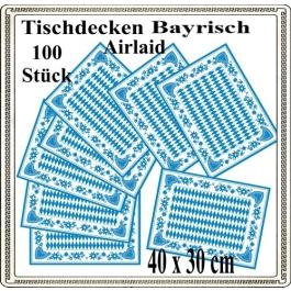 Bayrische Wochen Tisch-Sets, Platzdecken, bayrische Raute