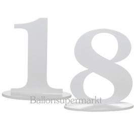 Tischaufsteller Zahl 18