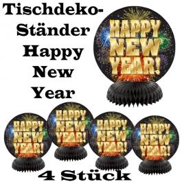 Silvester Dekoration Tischständer Happy New Year Feuerwerk