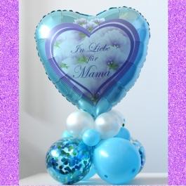 In liebe für Mama. Tischdekoration aus Luftballons zum Muttertag